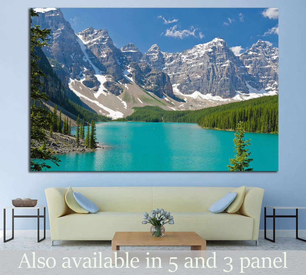 Mountain lake in Canada №629 Ready to Hang Canvas Print