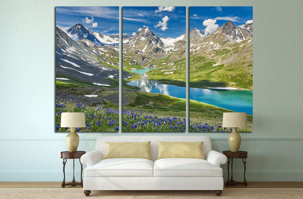 Mountain lake №636 Ready to Hang Canvas Print