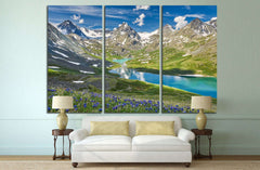 Mountain lake №636 Canvas Print