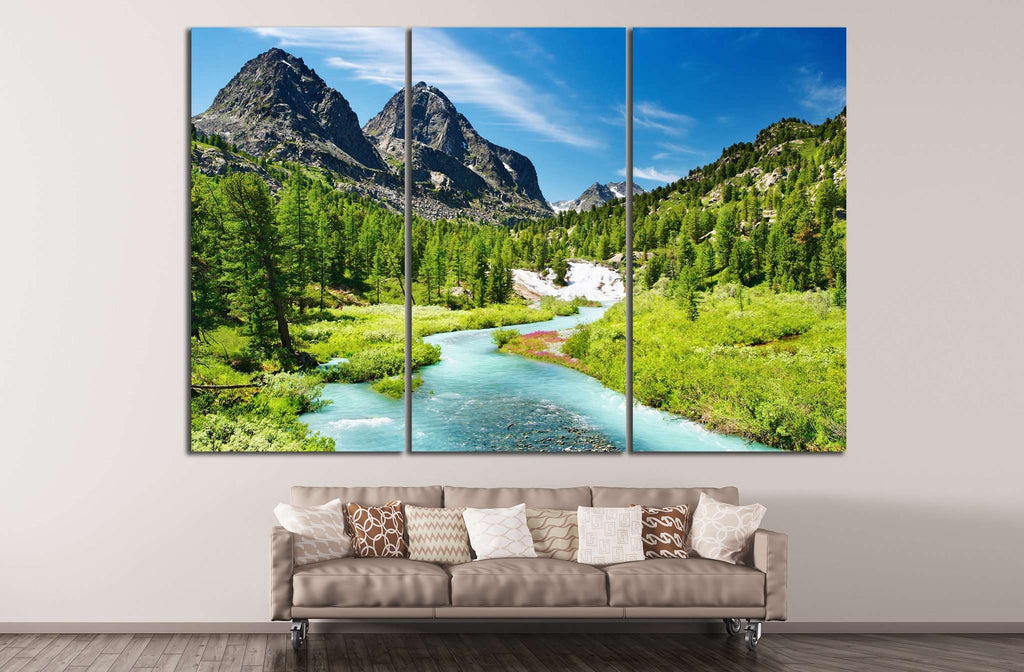 Mountain landscape №637 Ready to Hang Canvas Print