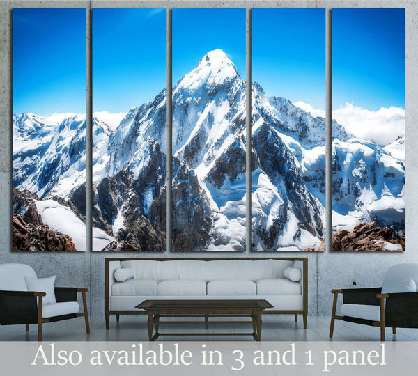 Mountain peak. Everest. National Park, Nepal №3107 Ready to Hang Canvas Print