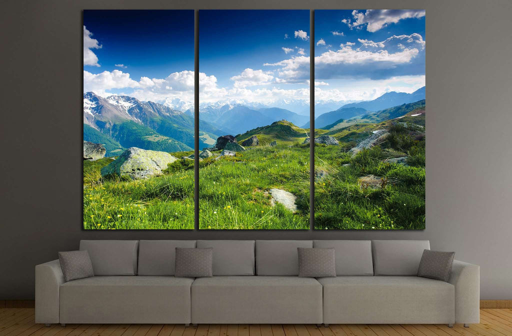 mountain, switzerland №638 Ready to Hang Canvas Print