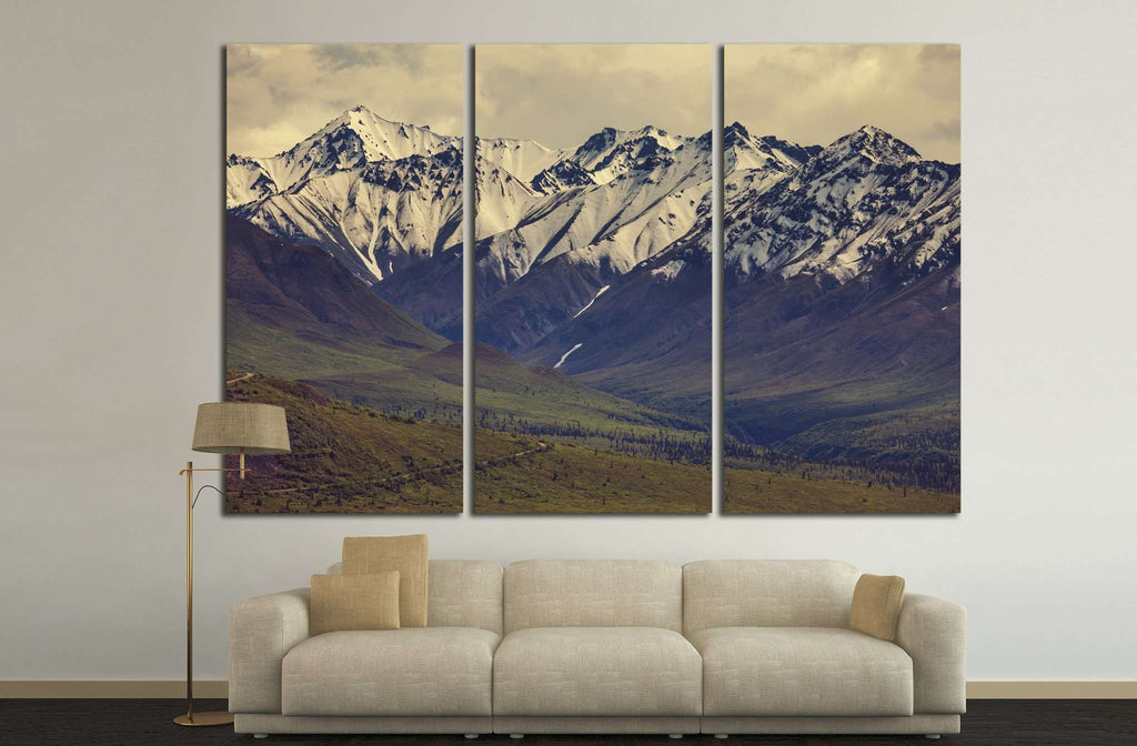 Mountains in Alaska №639 Ready to Hang Canvas Print
