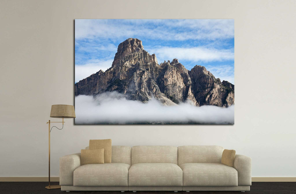 Mountains in the Alps №640 Ready to Hang Canvas Print