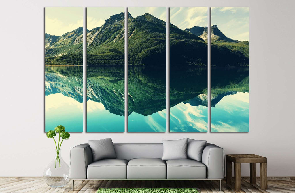 Mountains №548 Ready to Hang Canvas Print
