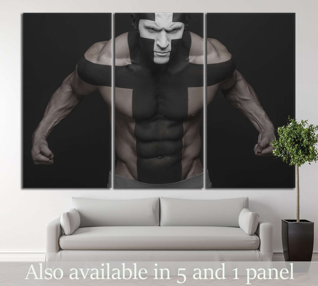 Muscle Man №205 Ready to Hang Canvas Print