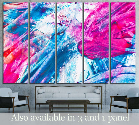 Nail Polish Splashes. art set №2879 Ready to Hang Canvas Print