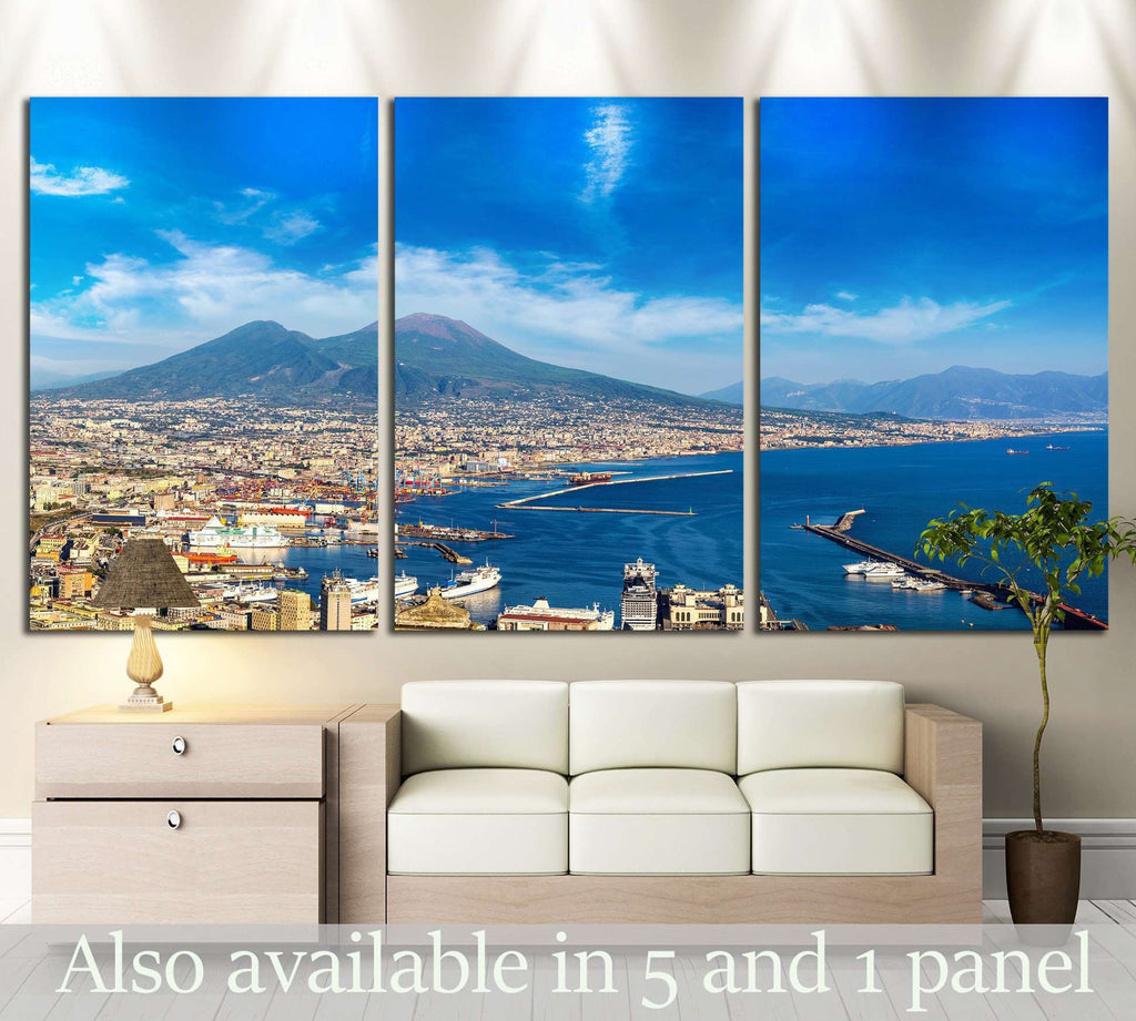 Napoli (Naples), mount Vesuvius, Italy №1243 Ready to Hang Canvas Print