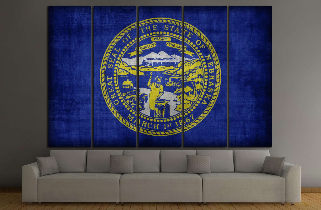 Nebraska flag №679 Ready to Hang Canvas Print