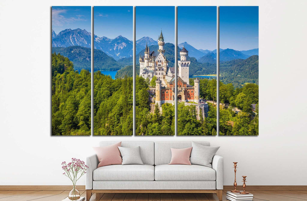 Neuschwanstein Castle, Germany №596 Ready to Hang Canvas Print