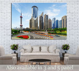 New District of Shanghai, China №1255 Ready to Hang Canvas Print
