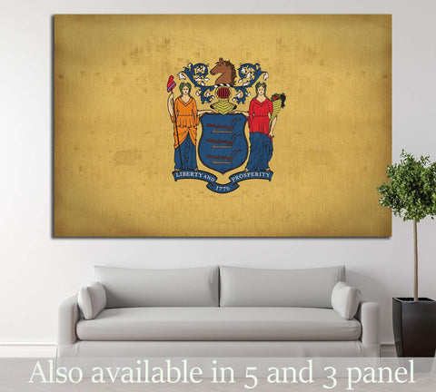 New Jersey flag №680 Ready to Hang Canvas Print