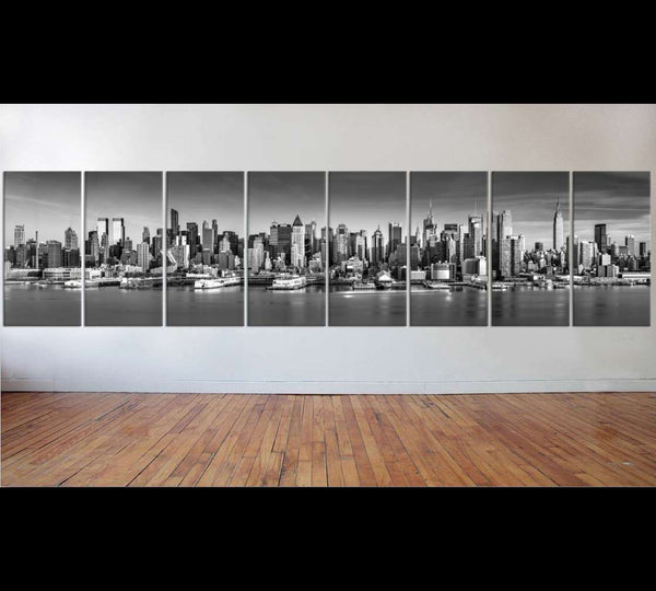 New York Black and White Large Art №53 Ready to Hang Canvas Print