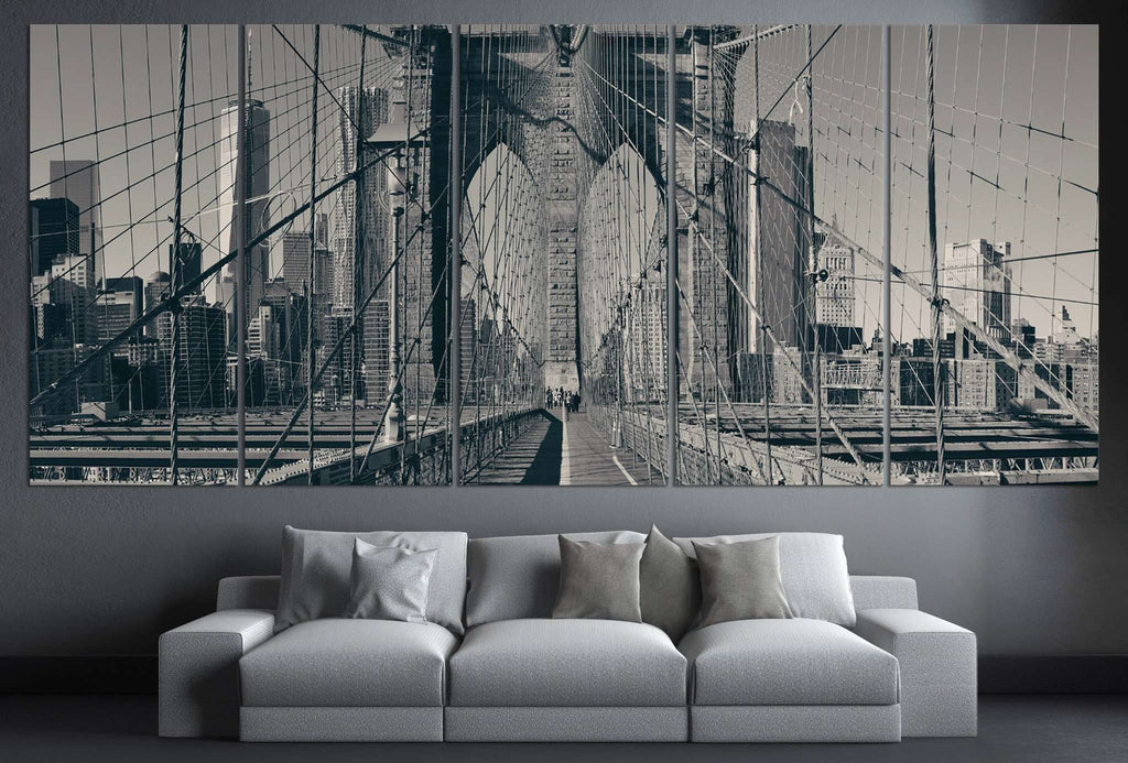 New York Brooklyn Bridge №125 Ready to Hang Canvas Print
