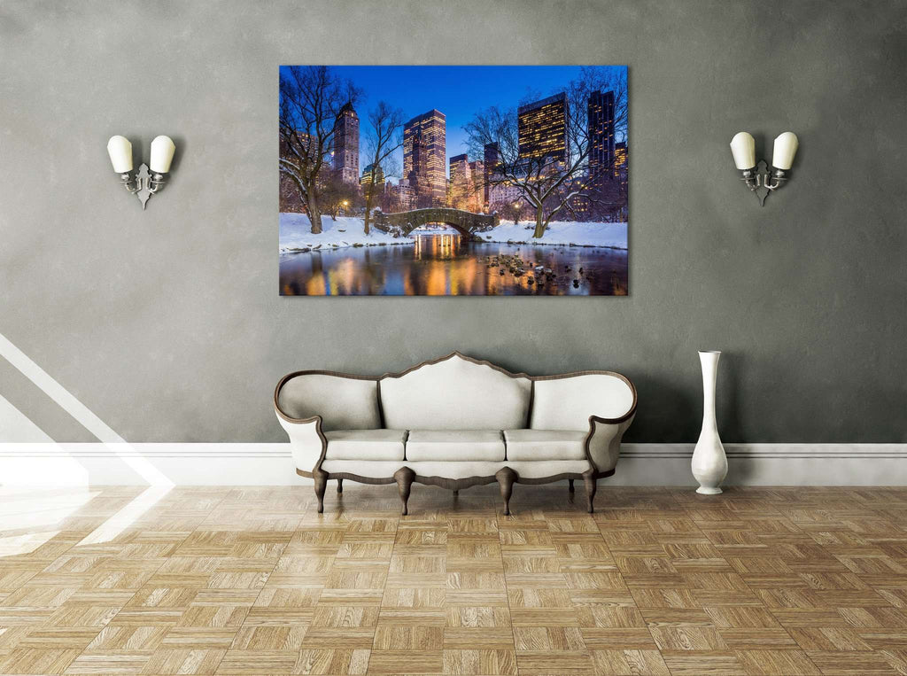 New York Central Park №617 Ready to Hang Canvas Print