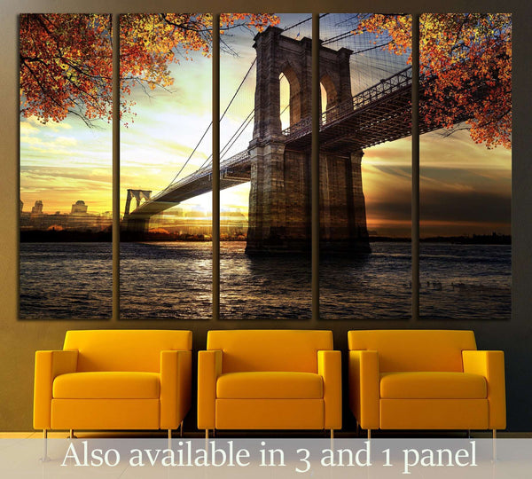 New York City - Manhattan after sunset - beautiful cityscape №2406 Ready to Hang Canvas Print