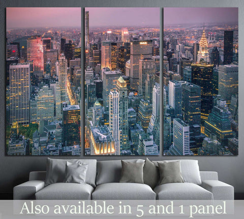 new york city scape №1441 Ready to Hang Canvas Print