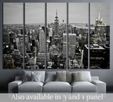 New York City Skyline at Night №2405 Ready to Hang Canvas Print