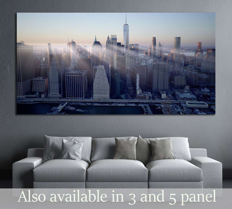 New York city skyline cityscape background №3048 Ready to Hang Canvas Print