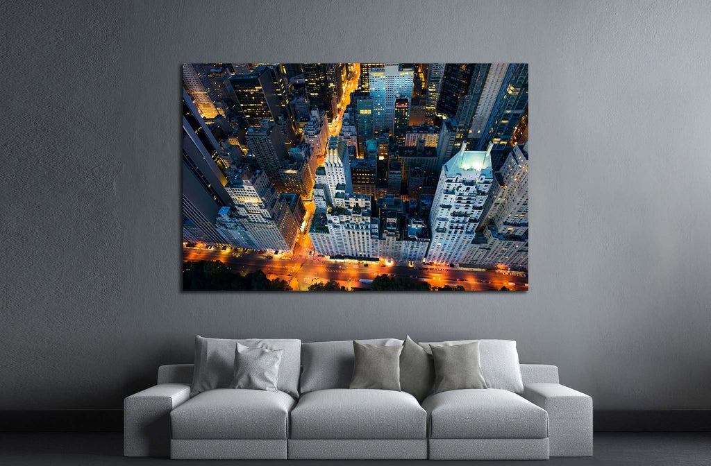 New York city, sunrise over central park №1687 Ready to Hang Canvas Print