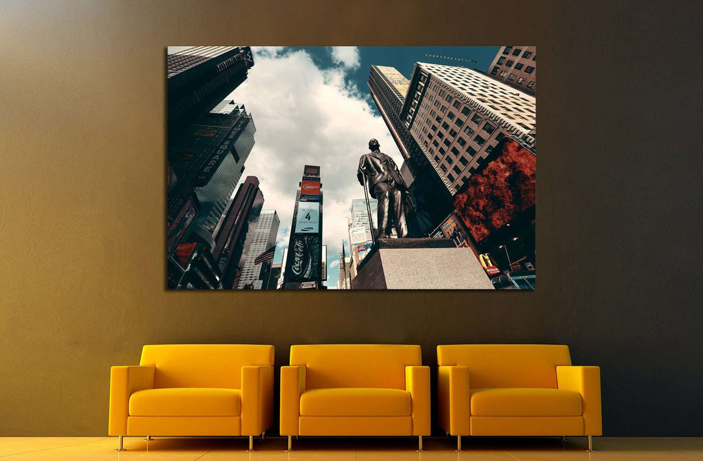 NEW YORK CITY, Times Square street, Manhattan, United States №2074 Ready to Hang Canvas Print