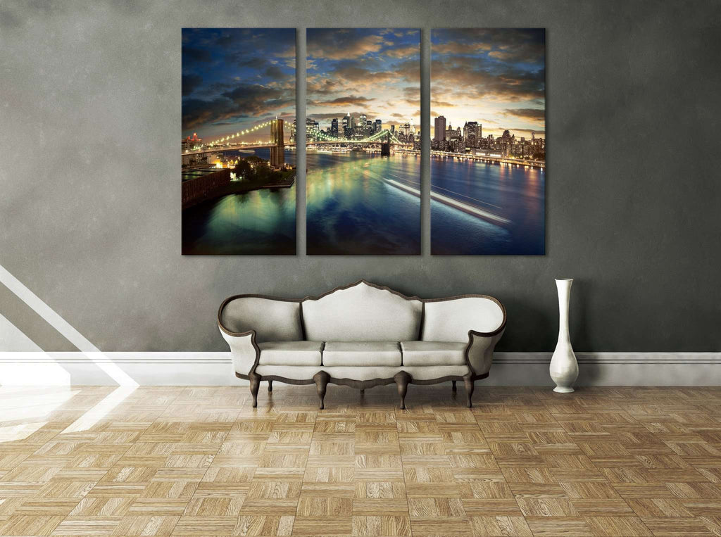 New York Cityscape №611 Ready to Hang Canvas Print