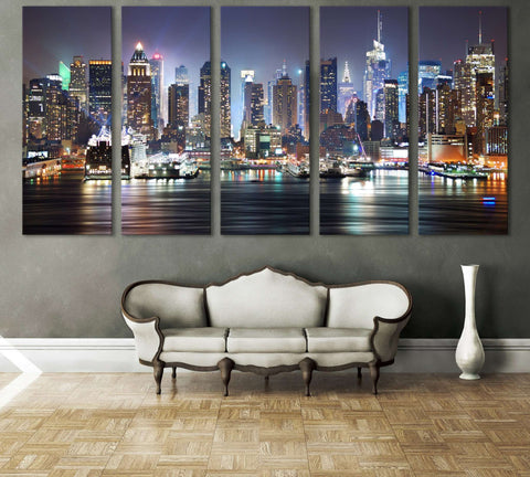 New York Cityscape №612 Ready to Hang Canvas Print