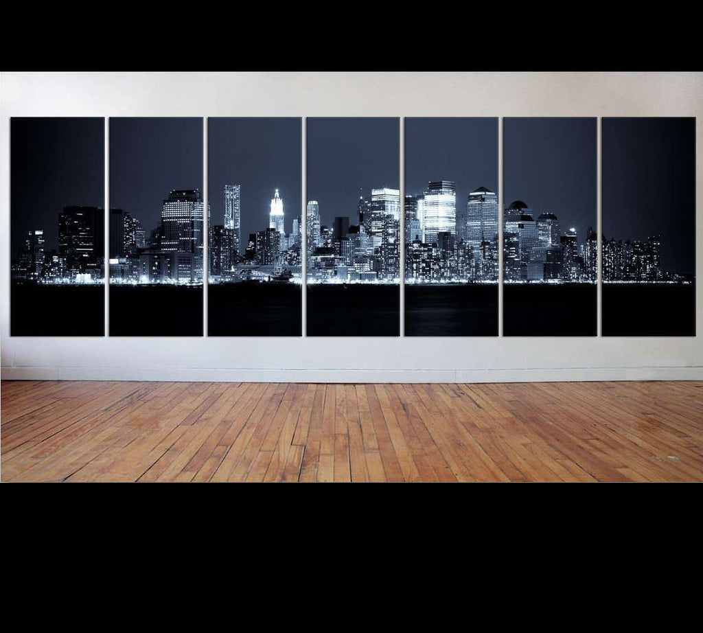 New York Extra large 7 panel canvas №37 Ready to Hang Canvas Print