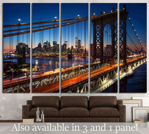 New York Manhattan №574 Ready to Hang Canvas Print