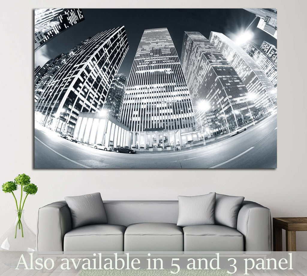 New York №755 Ready to Hang Canvas Print