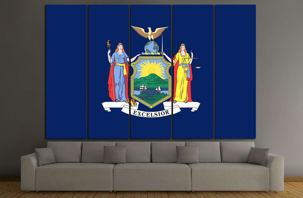 New York state flag №681 Ready to Hang Canvas Print