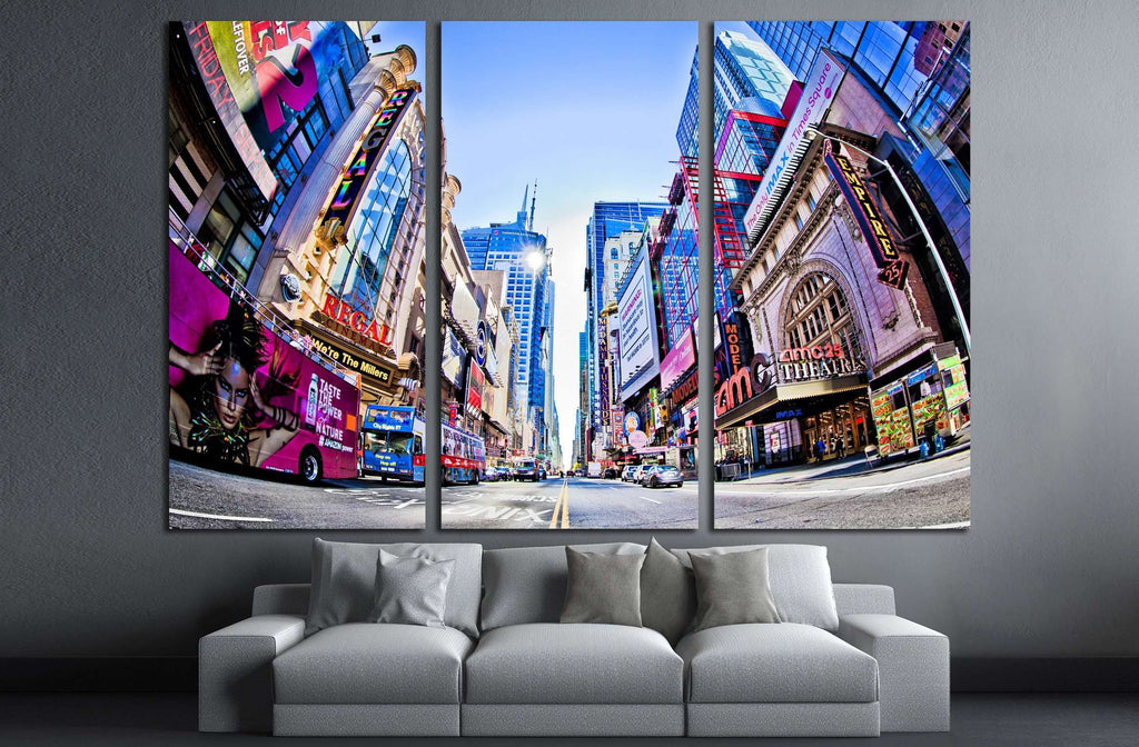 NEW YORK, Times Square and 42nd Stree №2267 Ready to Hang Canvas Print
