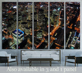 Night Scene of Toronto Skyscrapers viewed from CN tower, Toronto, Ontario, Canada №2010 Ready to Hang Canvas Print