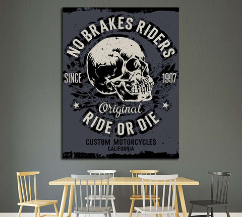 no brakes riders. ride or die №4591 Ready to Hang Canvas Print