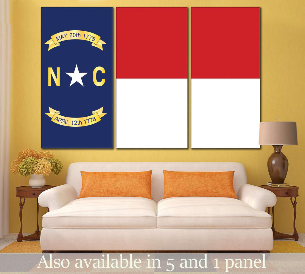 North Carolina Flag №827 Ready to Hang Canvas Print