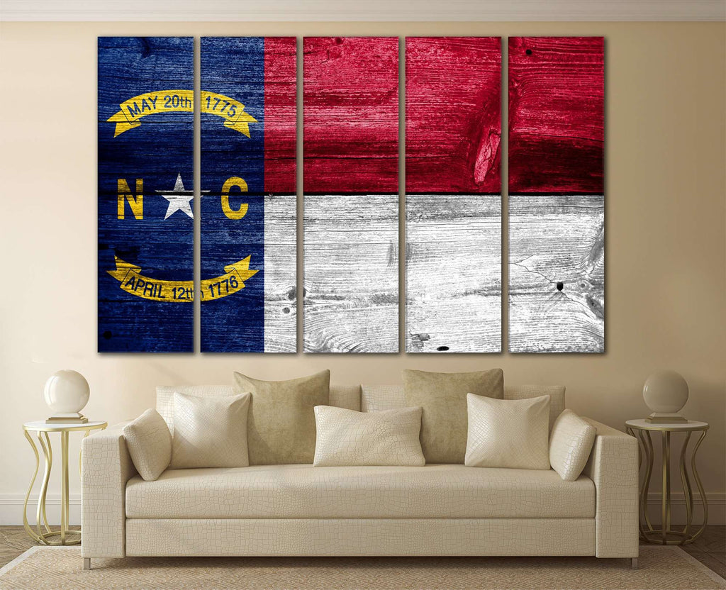 North Carolina State Flag №828 Ready to Hang Canvas Print