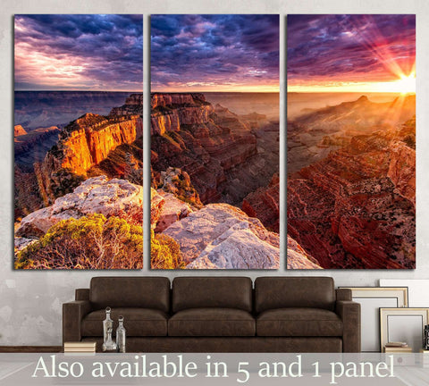 North Rim Grand Canyon Cape Royal №1962 Ready to Hang Canvas Print