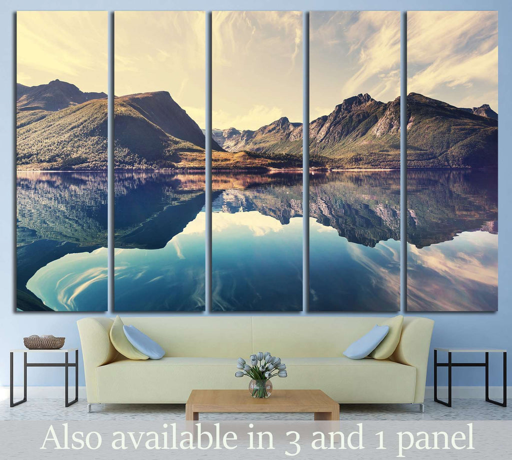 Norway landscapes №642 Ready to Hang Canvas Print