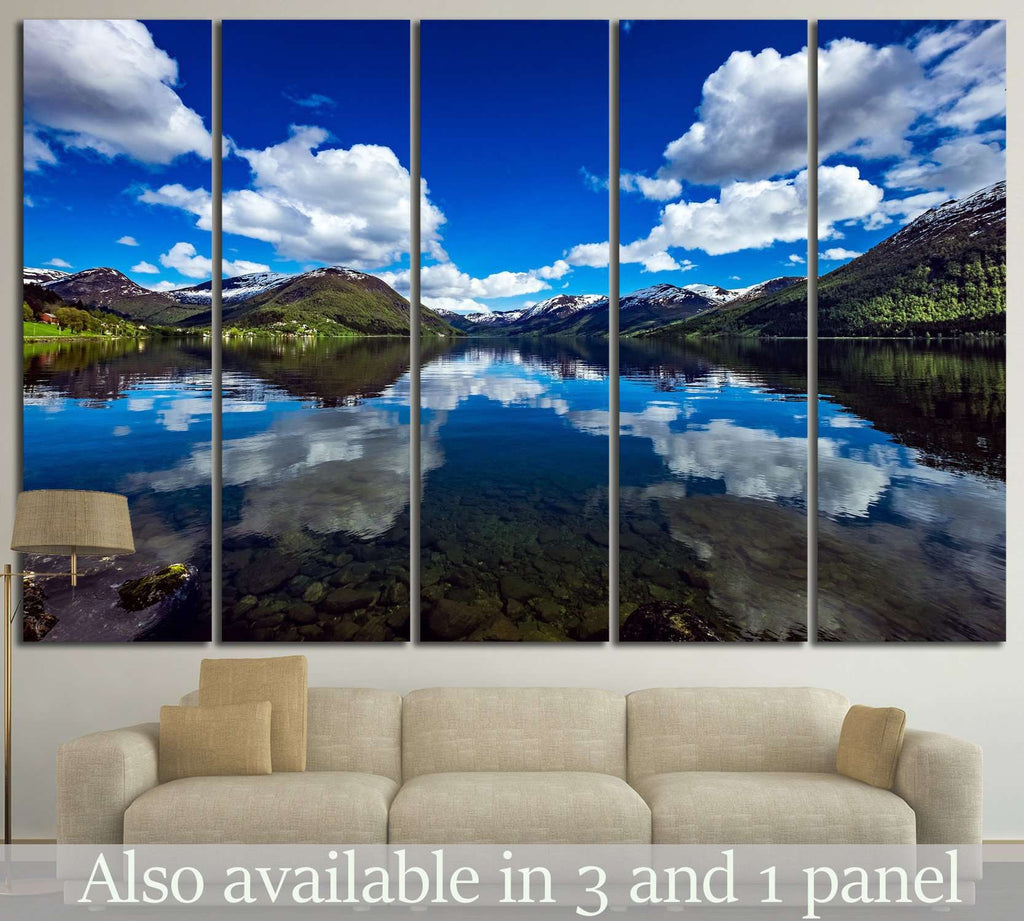 Norway natural landscape №595 Ready to Hang Canvas Print