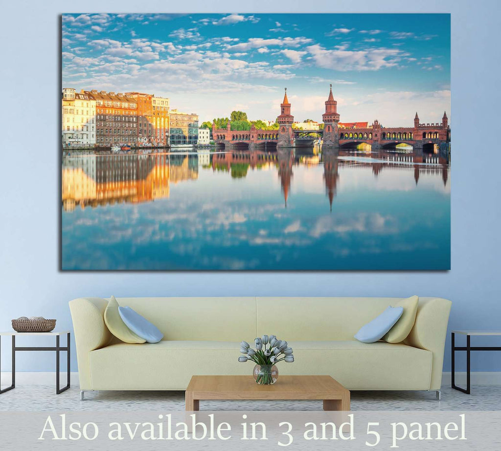 Oberbaumbruecke Berlin №1177 Ready to Hang Canvas Print