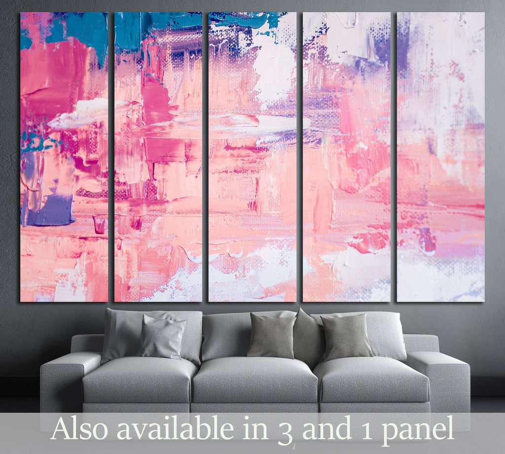 Oil painting on canvas. Color texture. Fragment of artwork №2888 Ready to Hang Canvas Print