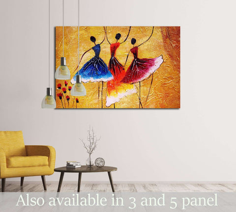 Oil Painting - Spanish Dance №3230 Ready to Hang Canvas Print
