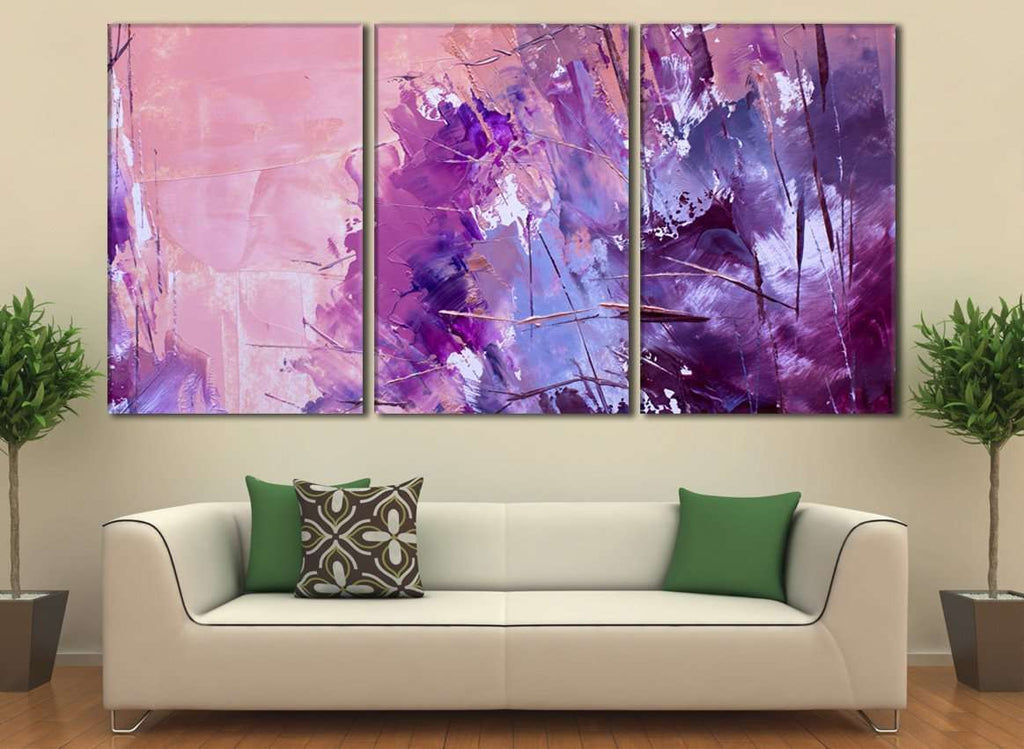 Oil Paints Abstract №789 Ready to Hang Canvas Print