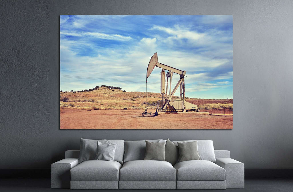 oil pump №865 Ready to Hang Canvas Print