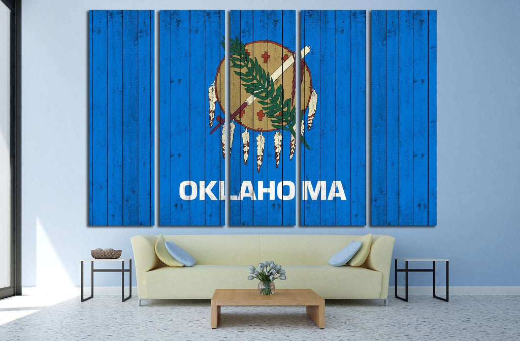 Oklahoma flag №682 Ready to Hang Canvas Print