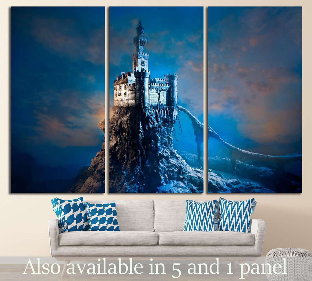 Old castle on the hill №713 Ready to Hang Canvas Print
