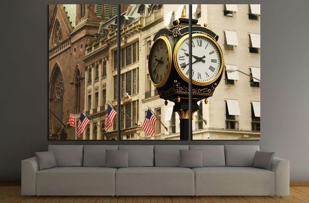 old clock, new york №864 Ready to Hang Canvas Print