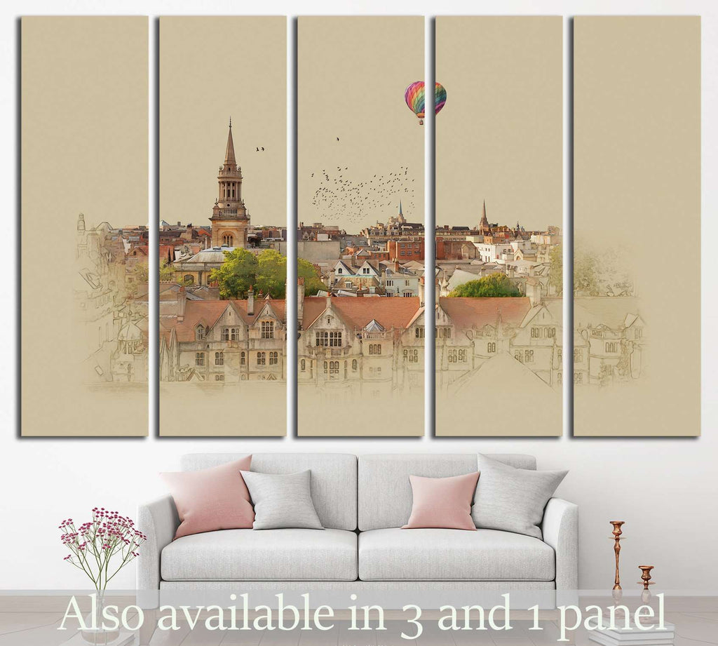 Old English landscape №575 Ready to Hang Canvas Print