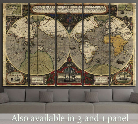 Old World Map №1494 Ready to Hang Canvas Print