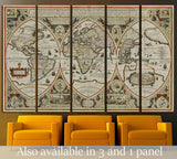 Old World map №1457 Ready to Hang Canvas Print